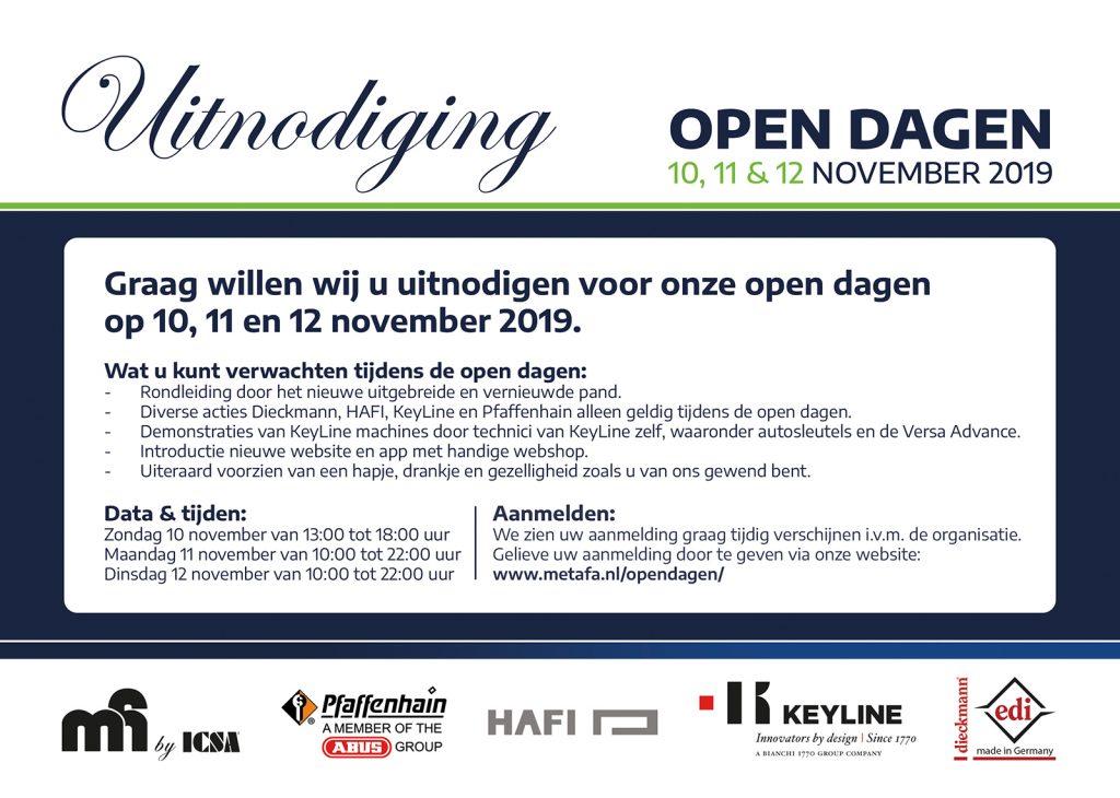 Uitnodiging Metafa open dagen